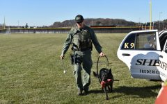 Rango the K9 police dog visits pre-vet class