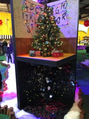 the stranger things inspired tree at the kennedy krieger festival of trees was the favorite of the weekend