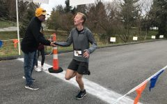Freezing weather didn't stop the warmth for Lily Weaver at 5K walk/run