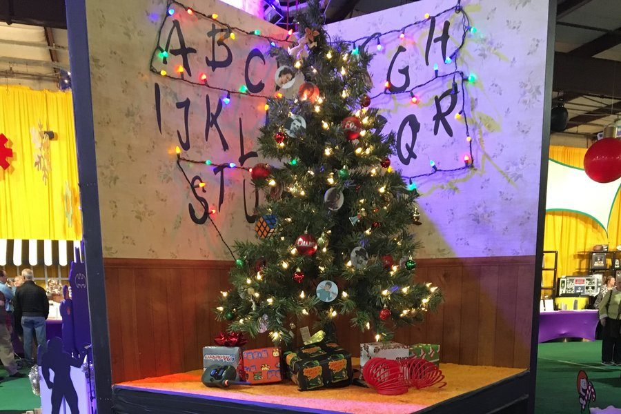 thestrangerthingsinspiredtreeatthekennedy - Stranger Things Christmas Decorations