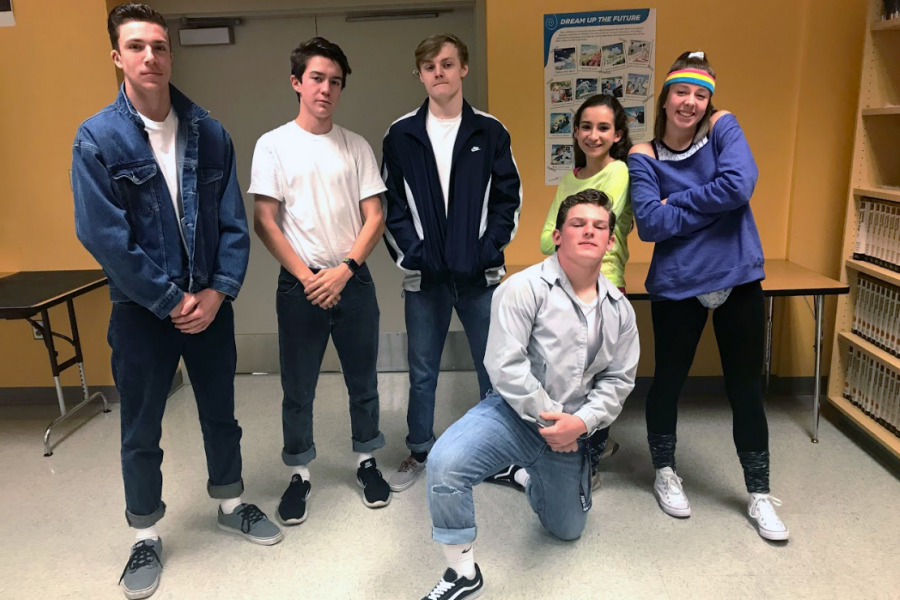 %28From+left+to+right%29+Nicholas+Lopatka%2C+Spencer+Askine%2C+Breyden+Blakley%2C+Kenny+McQuay%2C+Carolyn+Payne%2C+and+Sarah+Hall+pose+in+their+retro+outfits