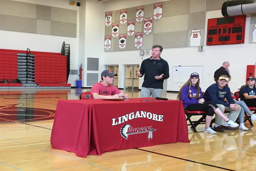Patrick+Coggins+signs+his+National+Letter+of+Intent+to+play+lacrosse+at+Wheeling+Jesuit+University.
