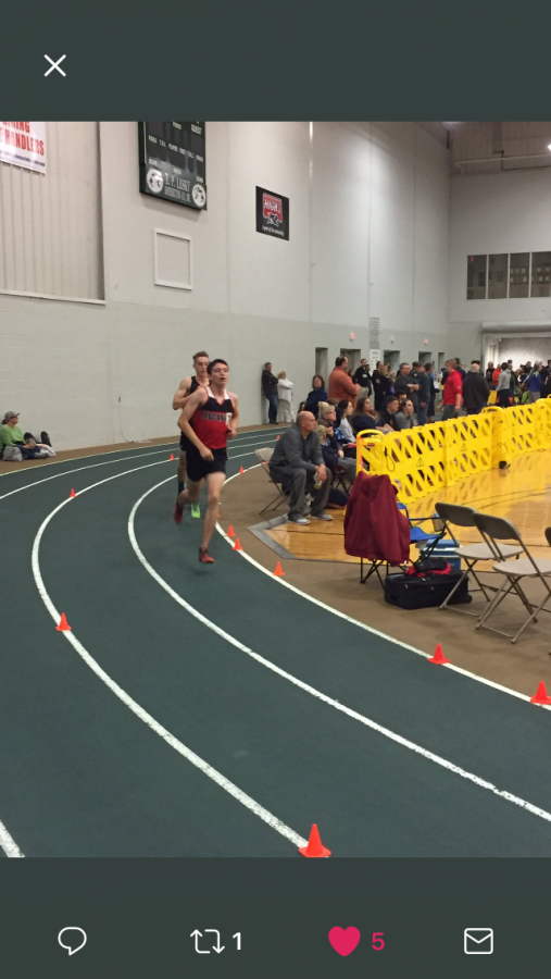 Kyle Guinn competes in the 3200 meter run.
