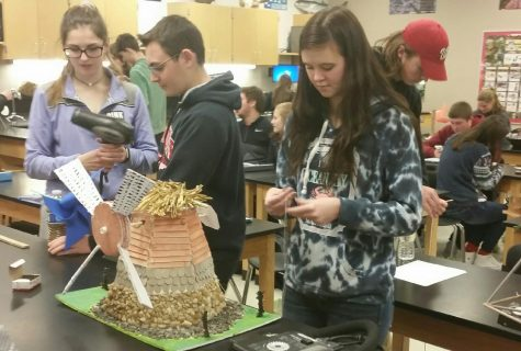 AP Environmental Science makes model windmills: Photo of the Day 12/20/17
