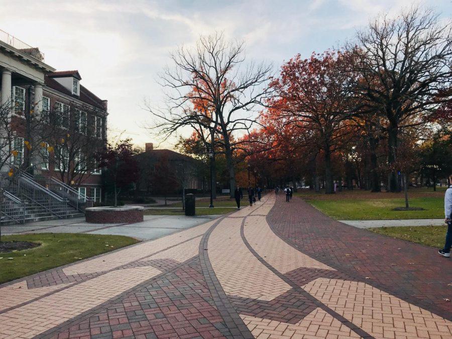 ECU campus in the fall.