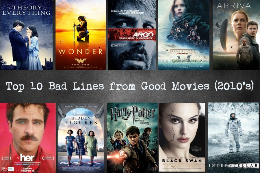 Emily Reeds top 10 bad lines from good movies (2010s)