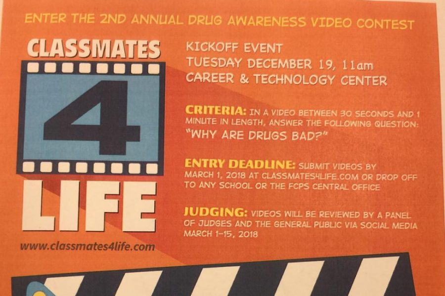 FCPS announces second annual drug awareness video contest: Photo of the day 1/18/18