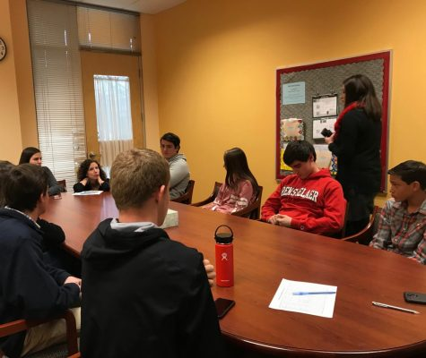 Members of the Acceptance and Awarness Student Focus Group discuss how to increase acceptance in the school setting.