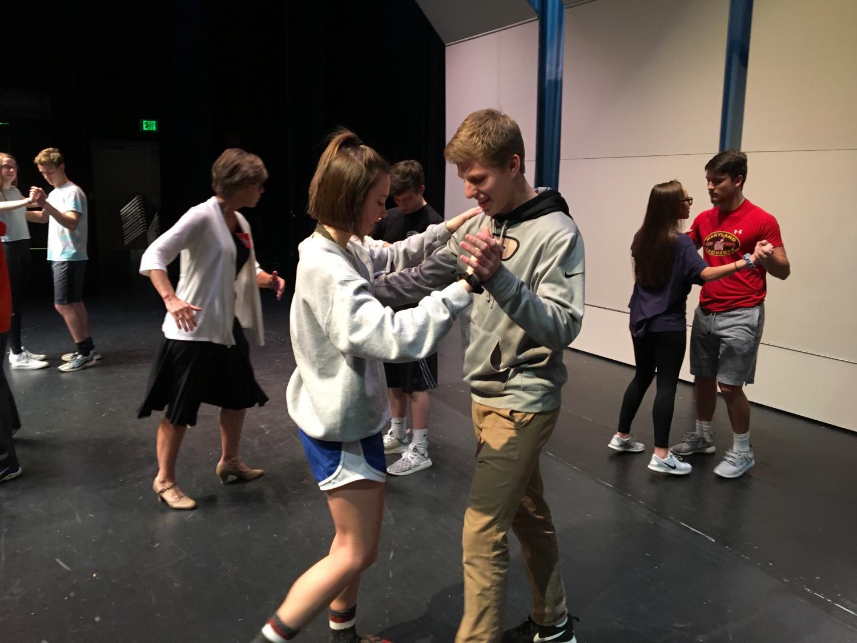 Lars Eklund and Sarah Hall dance the Rumba.
