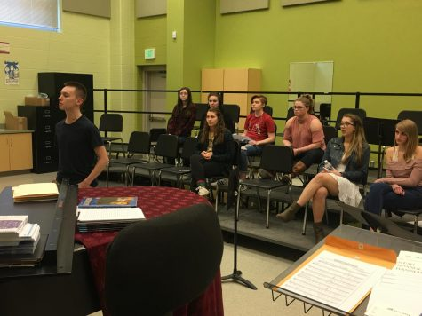Footloose auditions draw 41 students: Photo of the Day 1/24/18