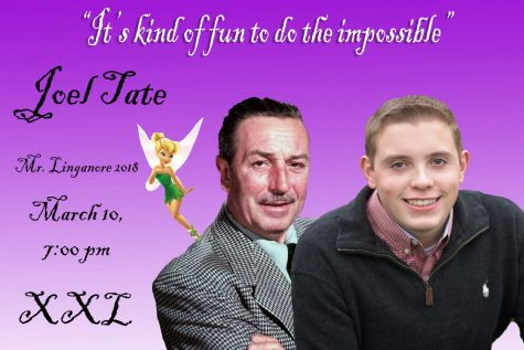 With the help of a little pixie dust, Joel Tate hopes to win Mr. Linganore