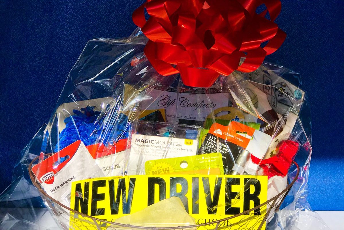 Basket donated by the Greg's Driving School in Mt. Airy.
