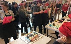 Mr. Linganore contestants show their creative side during lunch-time cake contest