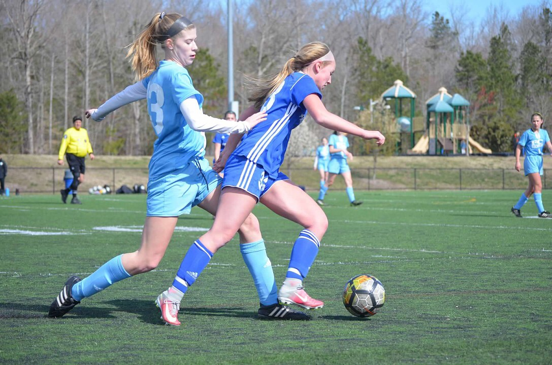 Sammie Hoefs plays soccer for her club team.