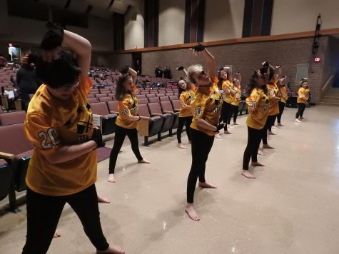 "Junior color guard performs 2018 show ""Nintendo All-Stars"""
