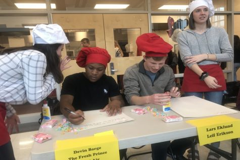 Mr Linganore contestants participate in lunchtime competitions: Photo of the Day 3/9/18