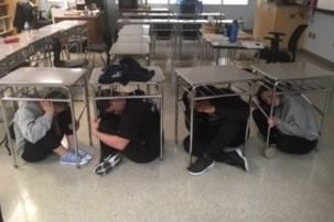 Studies have shown that the previous lock-down procedure of getting underneath desks is not a smart or safe option.