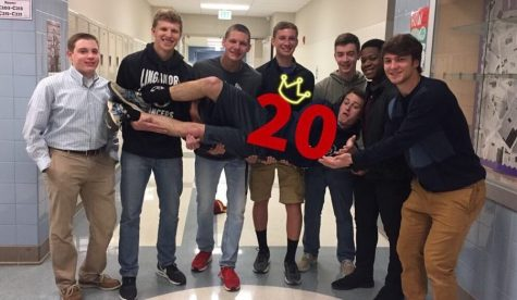 Mr. Linganore contestants strike a pose for 20 days left.