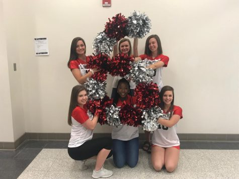 The seniors on the Pom and Dance Team dance their way through six more days.