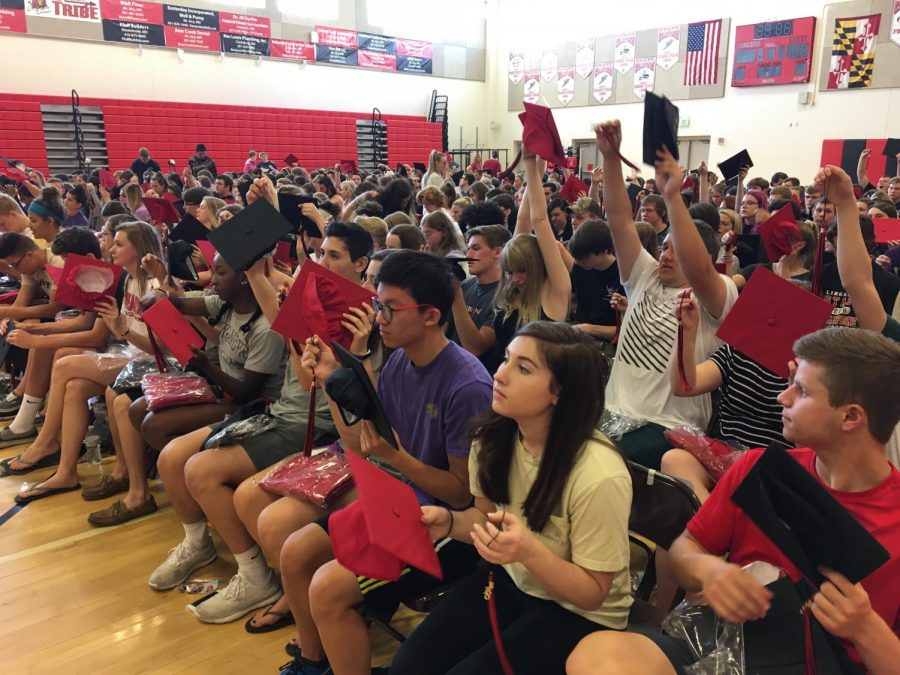 Seniors practice for graduation: Photo of the Day 5/25/17