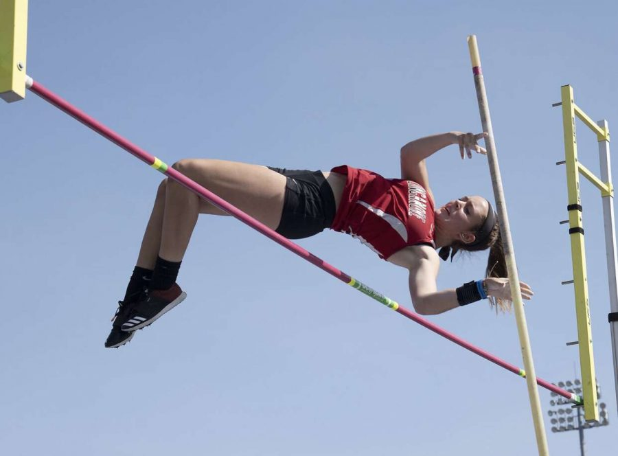 Myah+Davies+jumping+10+feet+to+claim+the+State+Champion+title.