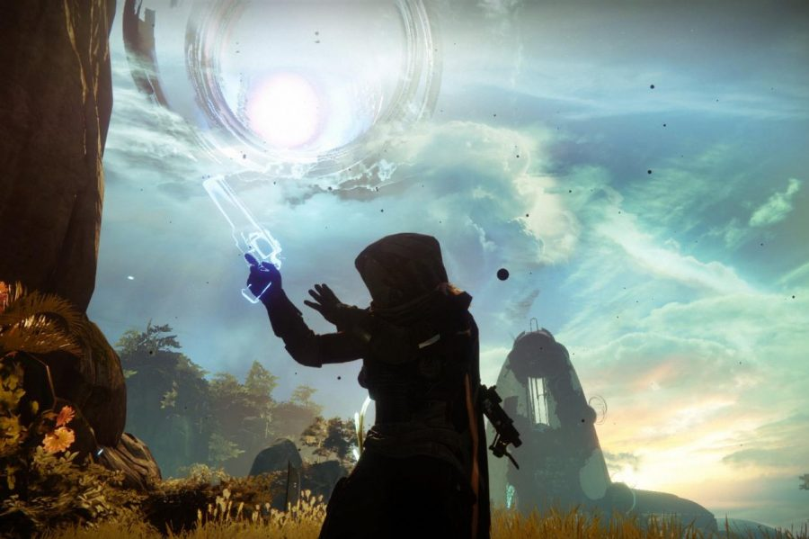 A+Guardian+poses+for+a+picture+in+the+Dreaming+City.