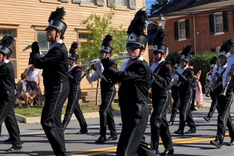 Band marches in parade and competition