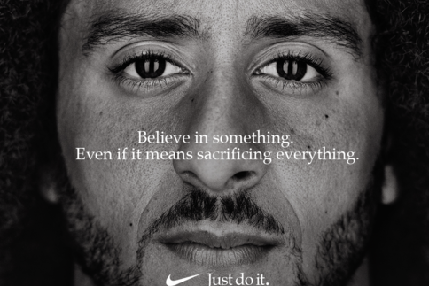 Colin Kaepernick is the man under fire in Nike's new ad.