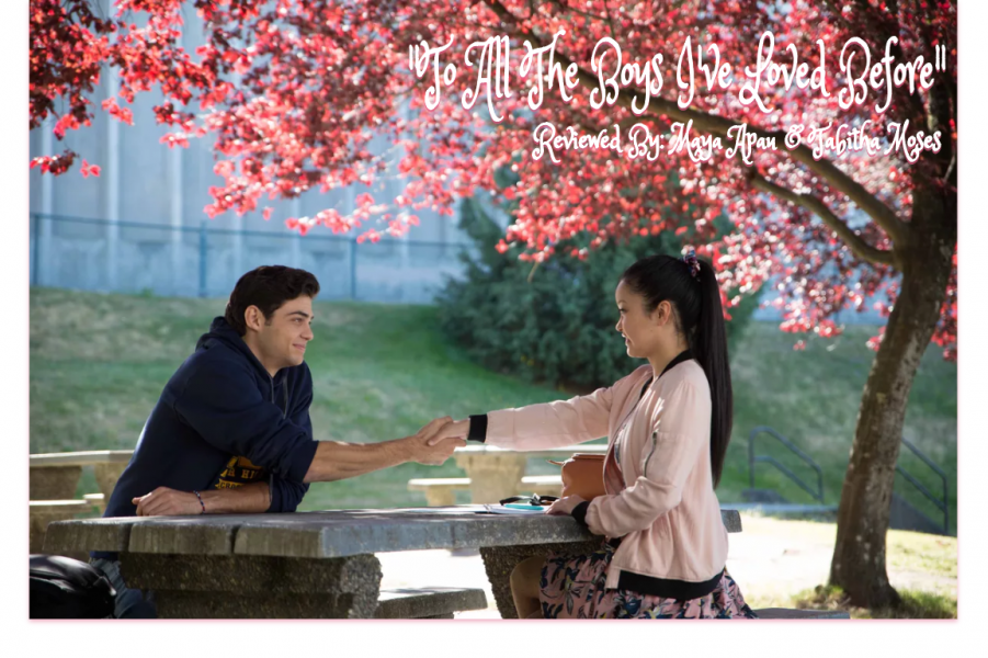 Lara Jean and Peter Kavinsky making a deal.