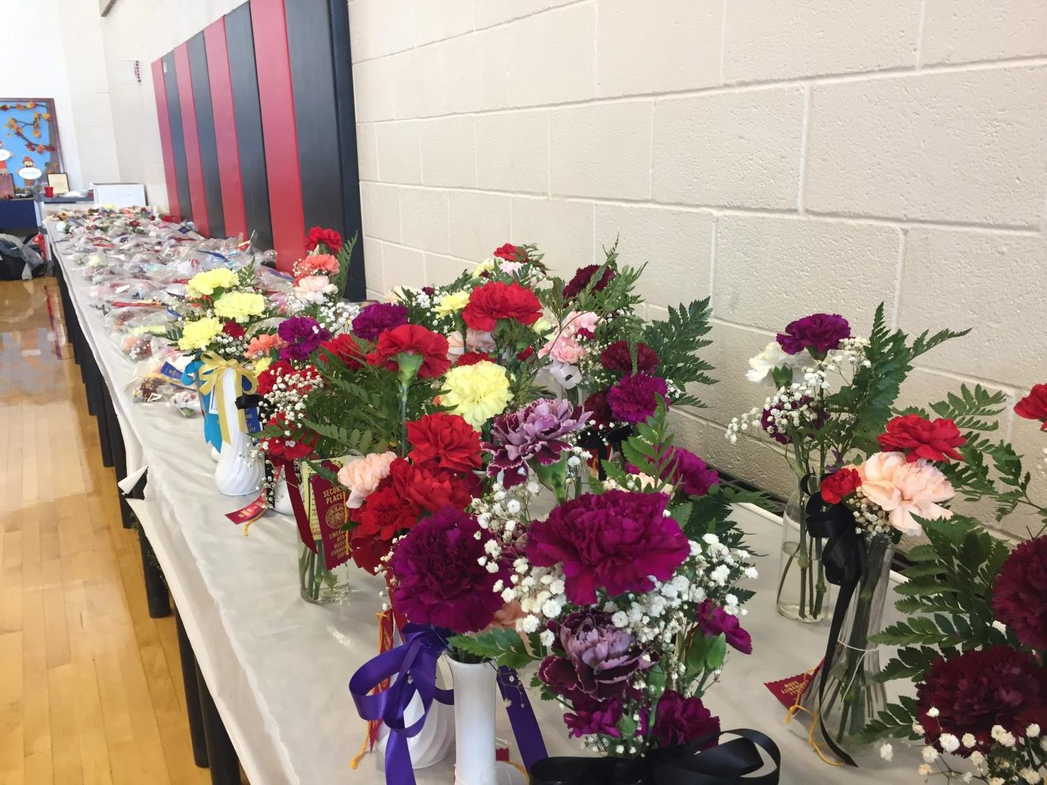 Flowers and boutonnieres showcased at the Community Show.