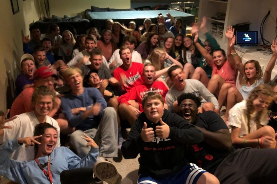 Frederick County Young Life gets pumped up for the fall semester of club.
