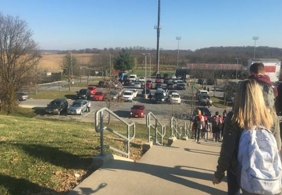 The bottom lot is extremely crowded and not monitored.