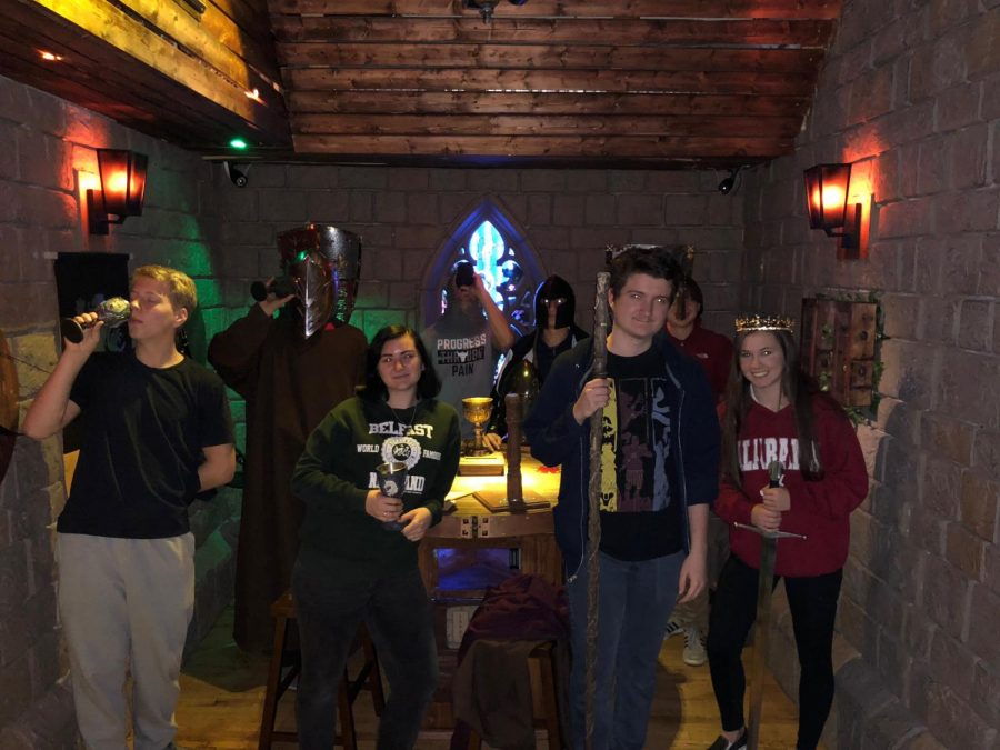 EDD Team successfully escapes Excalibur room.
