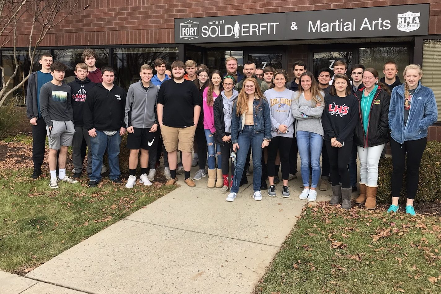 Business students meet with founder of Soldierfit, Danny Farrar