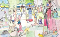 French Honor Society creates Seurat masterpiece