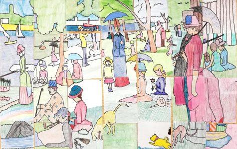 French Honor Society creates Seurat masterpiece