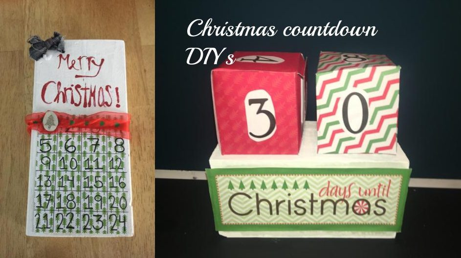 Julie's finished countdown DIY (left) and Grace's finished countdown DIY (right).
