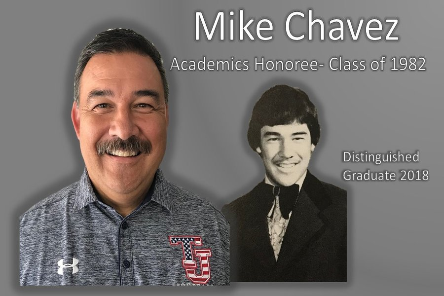 Mike Chavez, Class of 1982 wins academics Distinguished Graduate award.