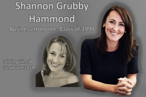 Business Distinguished Graduate Shannon Hammond.