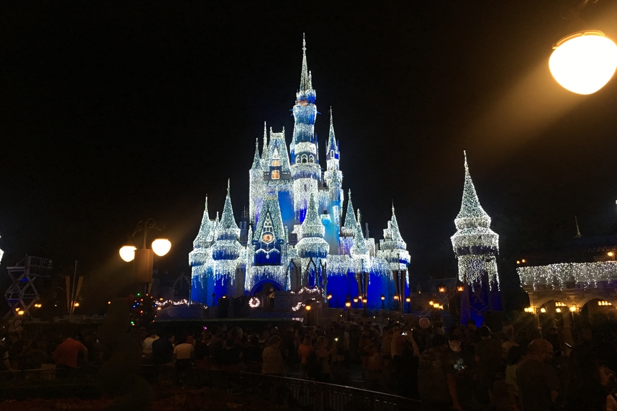 The illumination of Cinderellas castle in Magic Kingdom