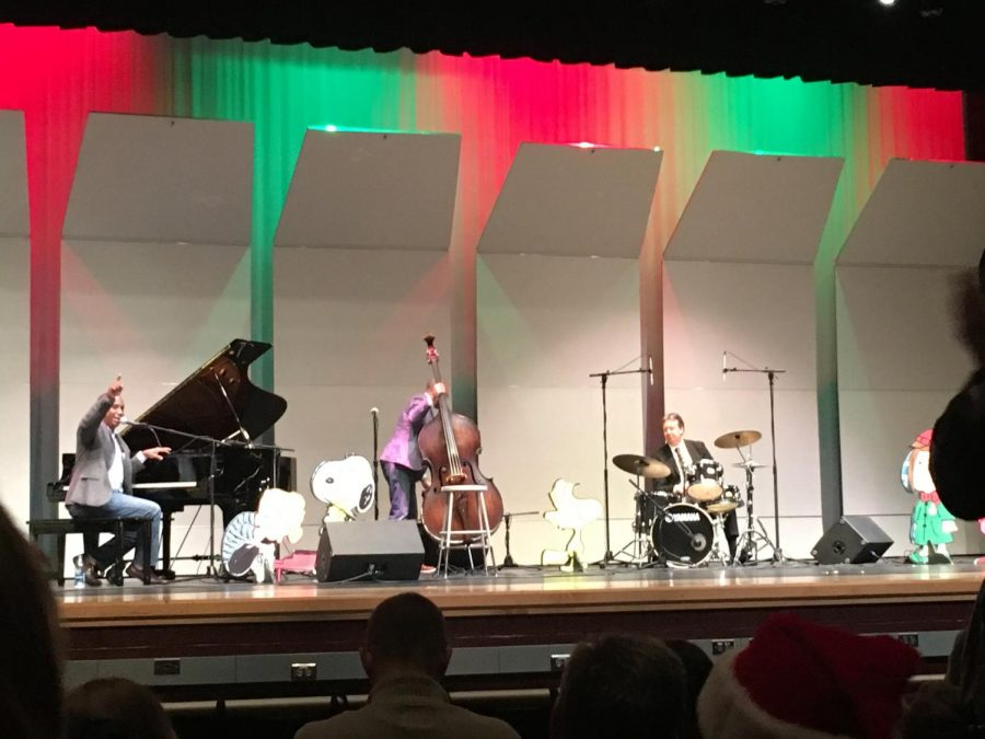 The Eric Byrd Trio performing at Linganore High