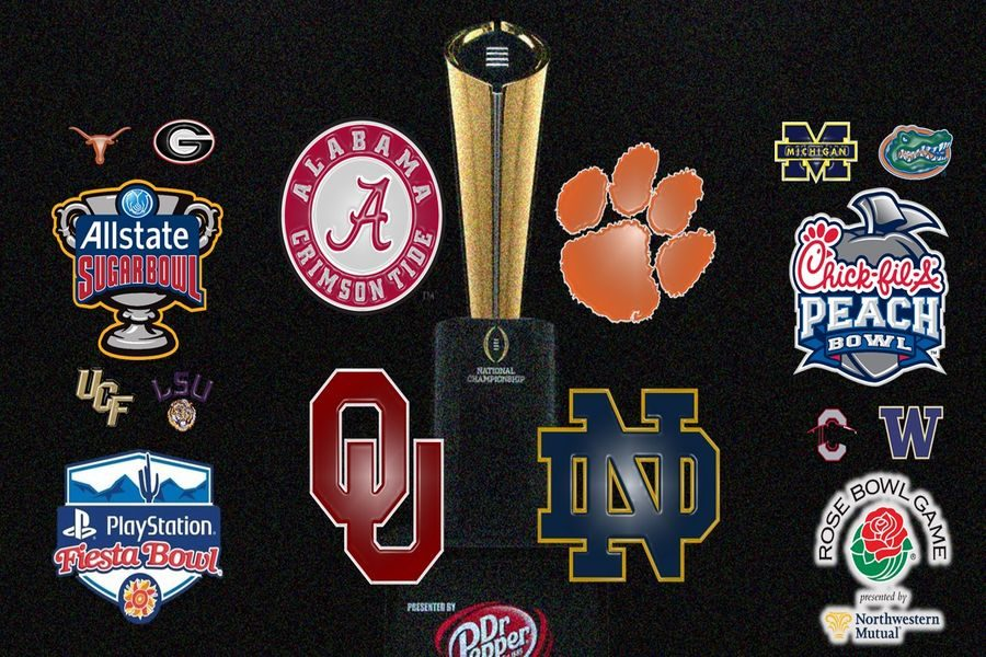 Above are all the college football teams in the New Year's Six.