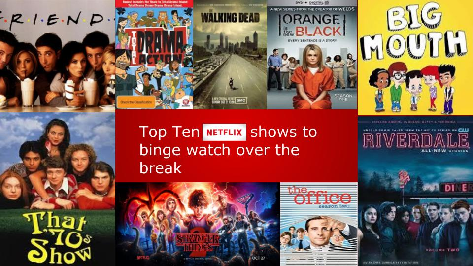 top 10 shows to watch over break