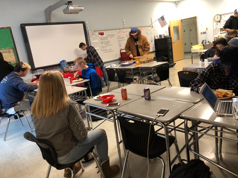 Seniors in Kirkland's class celebrate their book club.