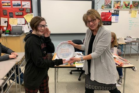 Journalism holds the first annual Paper Plate Awards: Photo of the Day 1/25/19