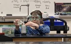 Environmental Science class creates a flammable synthesis reaction