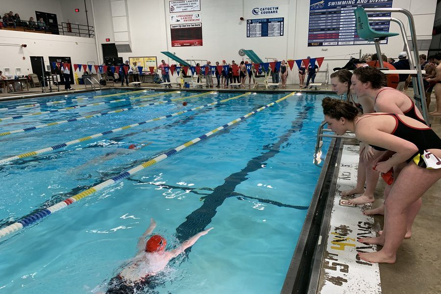 Girls swimming drowns T.J. opposition in fifth meet