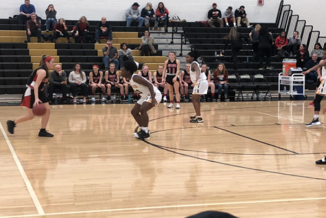 Girls varsity basketball falls short to the Cadets despite a hard-fought game: Photo of the Day 1/19/19