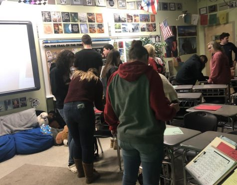 Hornbeck starts Sociology in silence:  Photo of the Day 2/18/19