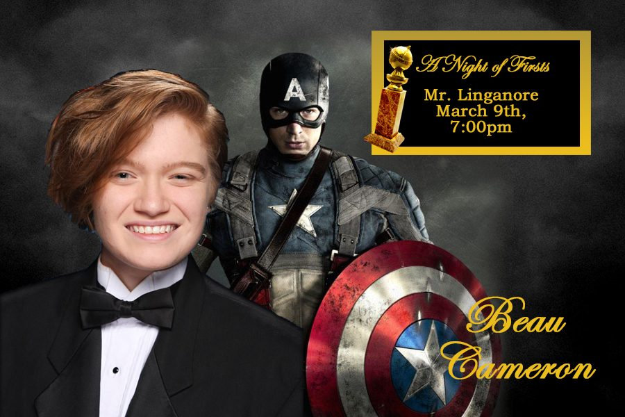 Beau Cameron hopes to overpower the competition as Captain America